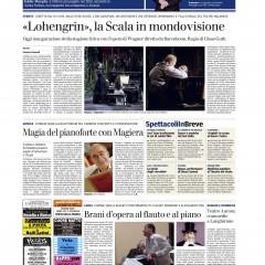 Articolo Gazzetta di Parma pagina Spettacoli