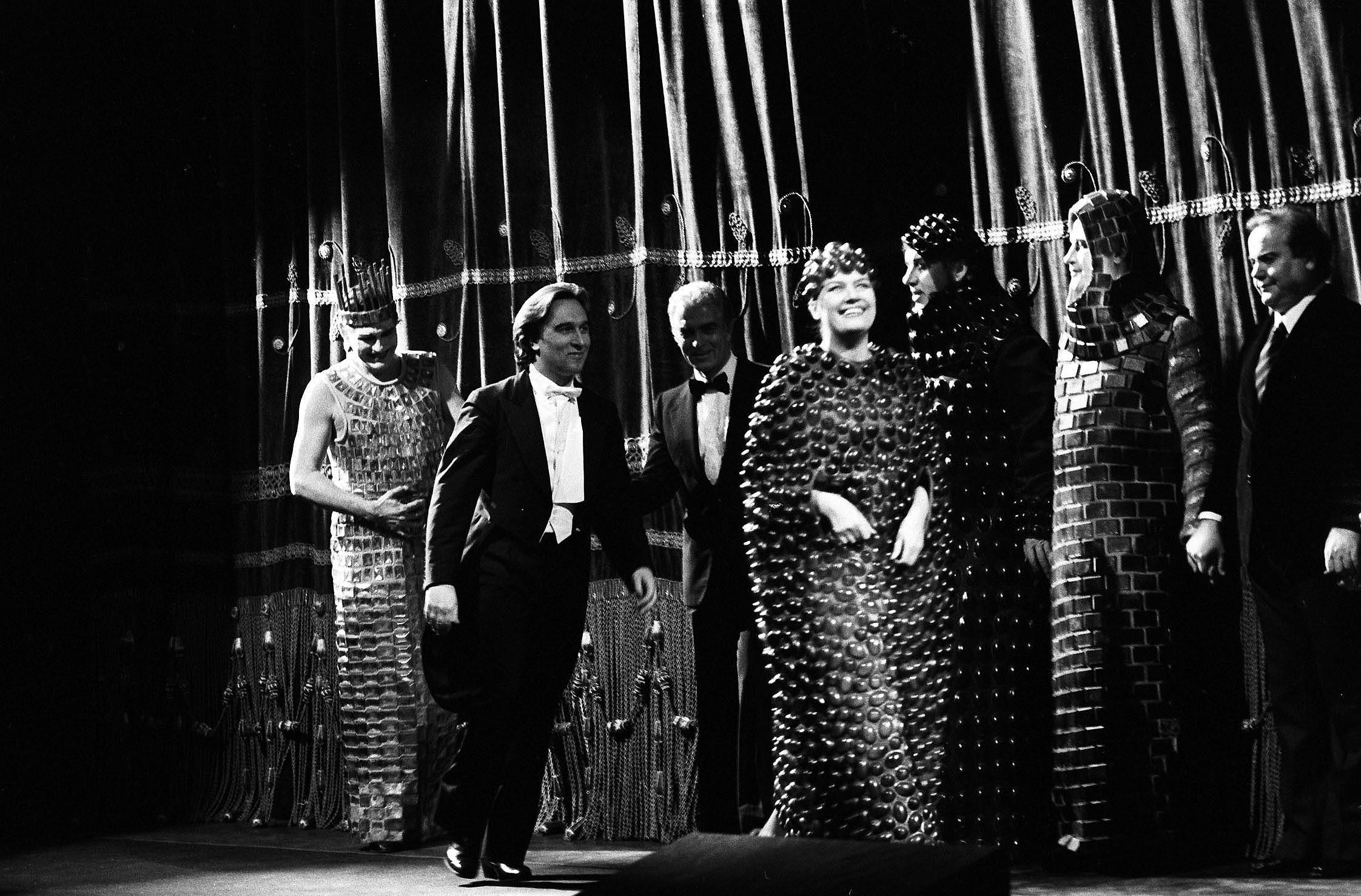 Gandolfi con Abbado e Strehler per Oedipus Rex