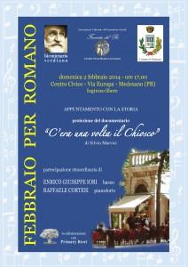 Febbraio 2014-locandina proiezione documentario di Silvio Marvisi ed esibizione basso Enrico iori