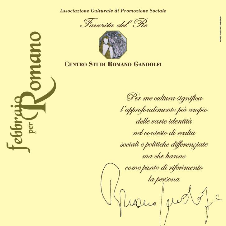 """Febbraio 2012: """"insieme. Elegia per Romano"""""""