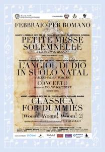 La locandina disegnata da Alberto Nodolini in occasione delle manifestazioni di febbraio 2013 in memoria della morte del Maestro Romano Gandolfi
