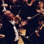 Romano Gandolfi alla direzione dell'Orchestra Verdi di Milano