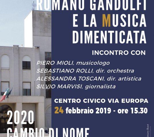 Febbraio per Romano, si parla di sacralità nel linguaggio musicale. Cambiare nome a Medesano?