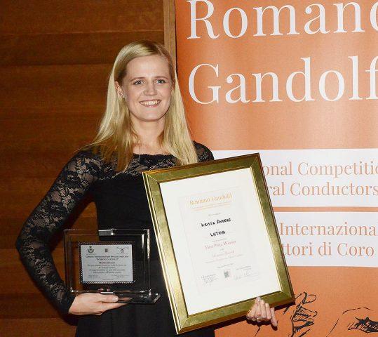 """Krista Audere vince il Concorso Internazionale """"Romano Gandolfi"""" e il premio speciale"""